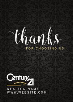 Century 21 Thanks Realtor Wine Label - iCustomLabel