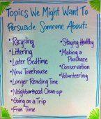 Persuasive topics