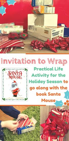 An easy, low-prep holiday activity for preschoolers that will keep them busy for more than five minutes. We came up with this idea after reading Santa Mouse. Preschool Christmas Crafts, Christmas Activities For Kids, Preschool At Home, Toddler Preschool, Christmas Themes, Toddler Activities, Preschool Activities, Simple Christmas, Santa