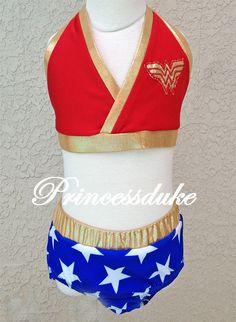 Wonder Woman Super Hero Inspired Princessduke Birthday Bikini