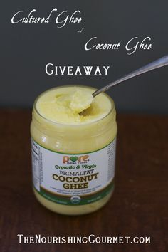 Win a Jar of cultured ghee and coconut ghee! --- I am pinning this because I want to remember the product! ~R.