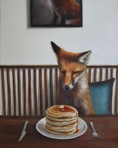 WOW x WOW is an online art resource, specializing in the promotion and celebration of the very best New Contemporary Art from around the world. Animals Amazing, Cute Animals, Cute Images, Cute Pictures, Fox Painting, Fox Spirit, Pet Fox, Cartoon Sketches, Fox Art