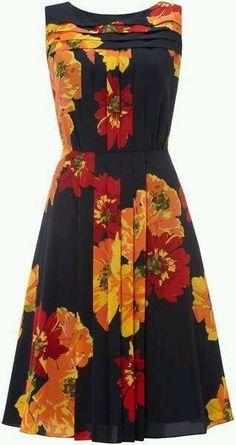 6746ed40bcd Ellen Tracy Floral Print Pleat Panel Dress in Blue (navy) - Lyst