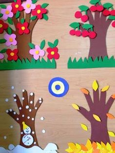 fall crafts for kids preschool cmeic Kids Crafts, Daycare Crafts, Fall Crafts For Kids, Tree Crafts, Spring Crafts, Projects For Kids, Diy For Kids, Diy And Crafts, Arts And Crafts