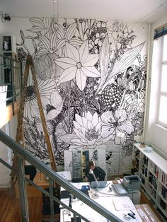 i will do this to one wall of my office and just add to it when i feel like coloring on the walls #rebel #rulebreaker always have been