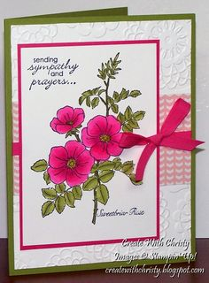 Stampin' Up! Sweetbriar Rose - Create With Christy: Blendabilities 101 Class