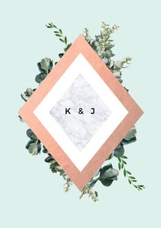 These Wedding Invitations feature chic greenery with stunning rose gold foil in contemporary geometric shapes with beautiful mint and marble. Pastel Wedding Invitations, Floral Wedding Stationery, Destination Wedding Themes, Flower Invitation, Luxe Wedding, Wedding Decor, Wedding Ideas, Grafik Design, Rainbow Pastel