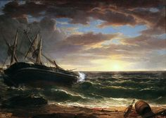 The Stranded Ship, 1844, Asher B. Durand