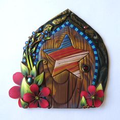 July 4th Fairy Door Miniature Patriotic Pixie Portal Home