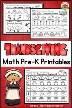 Use these NO PREP Thanksgiving math preschool printables to reinforce preschool math concepts such as counting, ordering by size, and patterning. Thanksgivng math worksheets can be implemented in small group activities, morning work, or for extra practice. Print out and sent home as independent work packets for distance learning. #thanksgivingmathwoksheetspreschool #preschoolthanksgivingmath #thanksgivingmathactivitiespreschool