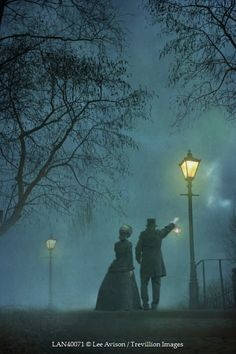 Lee Avison VICTORIAN COUPLE AT NIGHT Couples