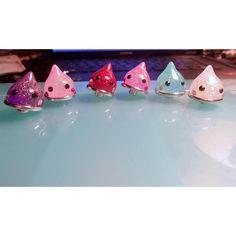 Resin Glitter Drop Snap Charm Buttons-Assorted Colors-Kawaii-Kawaii... ($1.75) via Polyvore featuring jewelry, button charms, ginger snap charms, glitter jewelry, resin jewelry and dot jewelry