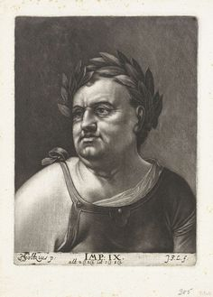 Johann Friedrich Leonard | Portret van keizer Vitellius, Johann Friedrich Leonard, 1643 - 1680 |