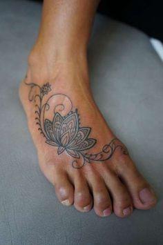 Lotus Flower Foot Tattoo - Tattoo Shortlist