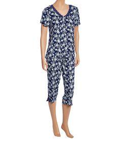 Navy Moonlight Kiss Pajama Set