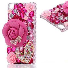 Resultado de imagen para bottle perfume diamond 3D rhinestone case iphone