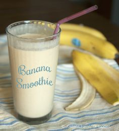 Peanut butter banana smoothie with almond milk... perfect for breakfast or post-workout