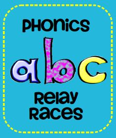 Phonics Relay Races: Great when you have a class with too much energy. Perfect for kindergarten! Letter Activities, Phonics Activities, Reading Activities, Teaching Reading, Teaching Ideas, Preschool Letters, Reading Lessons, Learning Games, Guided Reading