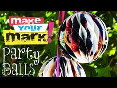 Learn to make these terrific recycled party decorations in no time! Here's the how-to! PARTY BALLS From Pulp Fiction Perfect Pa...