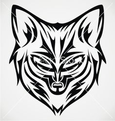 fox-head-tattoo-design-vector-2830424.jpg (380×400)