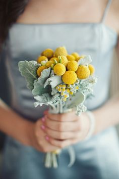 Grey blues with a POP of yellow #ColourInspiration for weddings