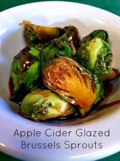 Apple Cider Glazed Brussels Sprouts from @Jean Layton-Gluten-Free Doctor