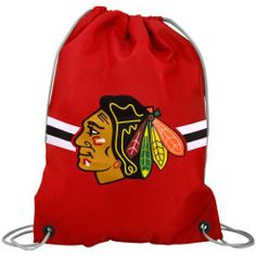 Chicago Blackhawks NHL Logo Drawstring Backpack by Forever Collectibles. $4.55. This drawstring Back Sack - Backpack from Forever Collectibles is large enough to be practical, but light enough to carry comfortably. Features durable, water resistant nylon fabric, high-strength drawstring cinch closure cords which can be worn over one shoulder or over both like a traditional backpack and screen-printed team logo in team colors. Drawstring opening provides easy access t...