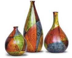 pottery - colours and shapes.