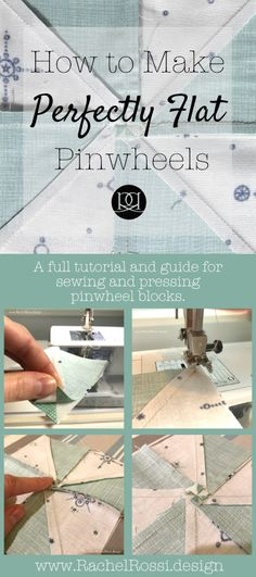 An awesome guide on how to sew and press pinwheel quilt blocks so that they lay flat. Reducing bulk in pinwheel seams is totally worth the effort!
