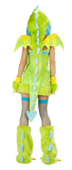 Puff The Dragon costume from behind #green #furry #sexyback http://www.loverslane.com/Costumes/