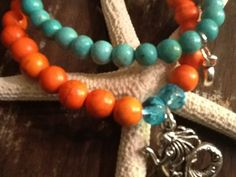 ARM PARTY GEMSTONE Womens Bracelets  A LIVELY Color combination makes this mermaid stretch bracelet set too CUTE and PLAYFUL!  Great gift for Teen