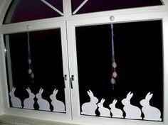 Window-Bunnys, Fensterdeko für Ostern, Easter, Paper Bunny