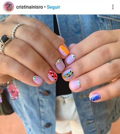 Gel Nail Art, Gel Nails, Acrylic Nails, Funky Nail Art, Funky Nails, Fabulous Nails, Perfect Nails, Nail Jewelry, Crazy Nails