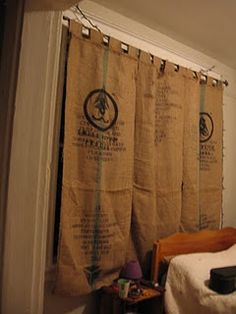 replace blinds with unique curtains