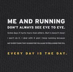 me & running...