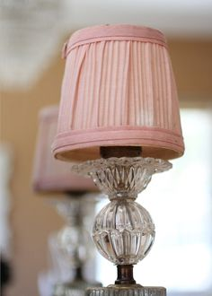 Vintage Pink Small Chandelier Shade, via Etsy.