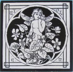 """From the rare series of twelve """"Spirit of the Flowers"""", here is """"Violet"""". It is Minton pattern No. 1347 which, as Austwick states, has been variously attributed to John Moyr Smith, C.O. Murray or possibly..."""