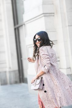 Spring Rose :: Lace trench