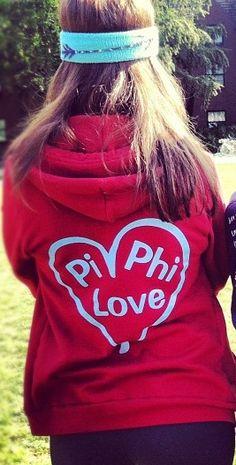 Love the sweatshirt- and the arrow headband! #piphi #pibetaphi