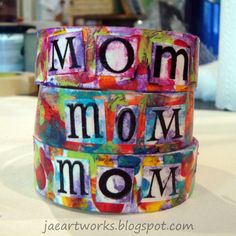 jaeartworks: wear your art on your sleeve  Popsicle Stick Cuffs- spell out name or word