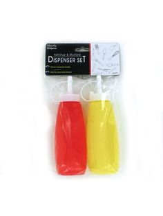 Ketchup & Mustard Dispenser Set (Available in a pack of 24)