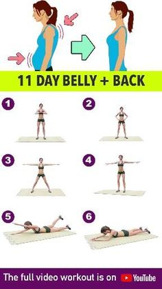 Full Body Gym Workout, Flat Belly Workout, Gym Workout Videos, Gym Workout For Beginners, Fitness Workout For Women, Fitness Workouts, Fitness Tips, Workout Watch, Fitness Motivation