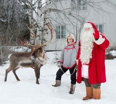 Joulupukki Pellossa Joulupukin porosprintissä Joulun jälkeen