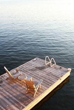 Am I the only one who would be terrified of my chair falling over the side? That's a pretty narrow dock..