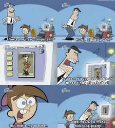 Fairly Odd Parents. Crocker is awkward....