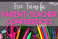 These free parent teacher conference forms are perfect.