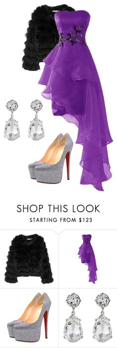 """prom"" by hena-clvi ❤ liked on Polyvore featuring Alice + Olivia, Christian Louboutin and Kenneth Jay Lane"