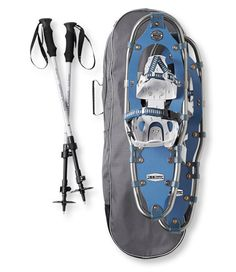 <p>Save when you buy everything together. Includes our most popular snowshoes, three-section aluminum snowshoe poles and a heavy-duty snowshoe bag so you can head out onto the trails right away.</p>    <p>Our most affordable snowshoes have been redesigned for 2014 with an ergonomically tapered shape and a rockered frame that allow a more natural stride. Aluminum crampons bite into ice and crusty snow for traction on slippery terrain. Improved bindings have a unique heel cup that securely ...