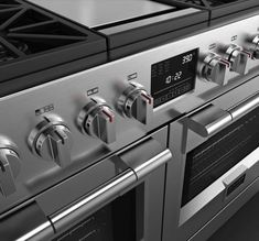 48' professional range from Fulgor Milano. You'll be spoiled with options and features with this amazing product that combine 8 gas burners with dual control ,automatic re-ignition , cast iron pan support and a multifunctional electronic oven with touch control self cleaning dual internal ventilation!