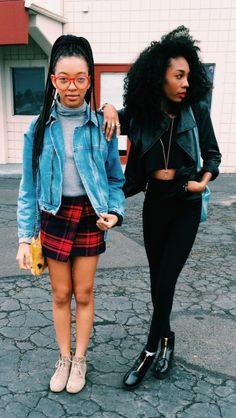 "blackfashion: "" Zolee G. & Kellie Sweet 17/18, LA www.theoutfitt.tumblr.com zolee_g / kelliesweet """